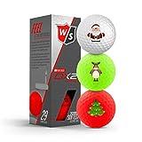 Wilson Staff DX2 Soft Optix 2018 - Juego de 3 pelotas de golf navideñas
