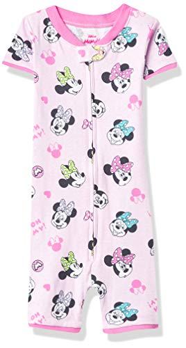 Disney Pijama sin pies de algodón de Minnie Mouse para niña, Happy Minnie, 4 Años