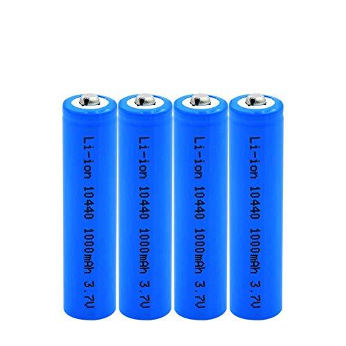 MeGgyc 3.7V voltios 1000mAh 10440 baterías de Iones de Litio de Iones de Litio Celdas de Repuesto para Banco de energía, micrófono, Radio, Gamepad 4pcs