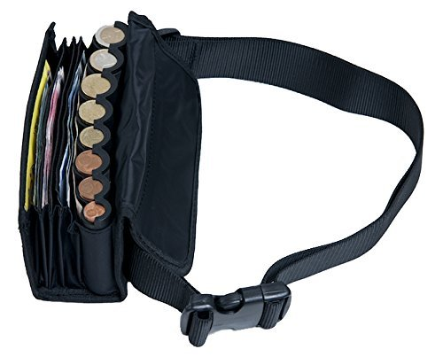 WAITER WALLET, incl. BELT AND COIN HOLDER, incl. euro coin changer sorter. BLACK by eurowallet