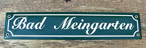 Unbekannt Emaille Schild Bad Meingarten