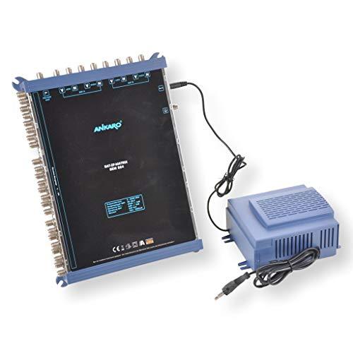 ANKARO Multischalter SEM 9/24 für den Empfang von zwei Satellitenpositionen an bis zu 24 Teilnehmer / 4K, 3D, UHD tauglich/Quattro LNC geeignet