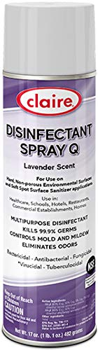 Claire Disinfectant Spray, Lavender, 17 Ounce