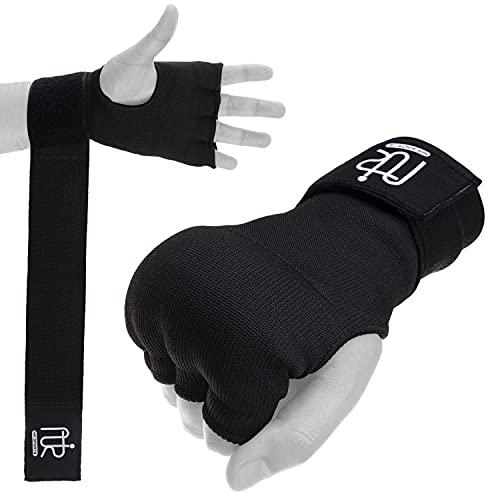 of boxing wraps Nir Sport Boxing Hand Wraps for Men Women 180 Inch, Inner Gel Padded Gloves Boxing Wraps, Martial Arts Hand Wraps for Boxing Gloves, Fist Protector Muay Thai Wraps for Kickboxing, MMA Training, Pair