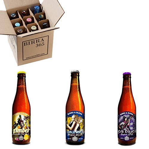 Caja degustación 9 cervezas artesanas Birra&Blues. La selección perfecta para descubrir diferentes tipos de cerveza artesanal valenciana.