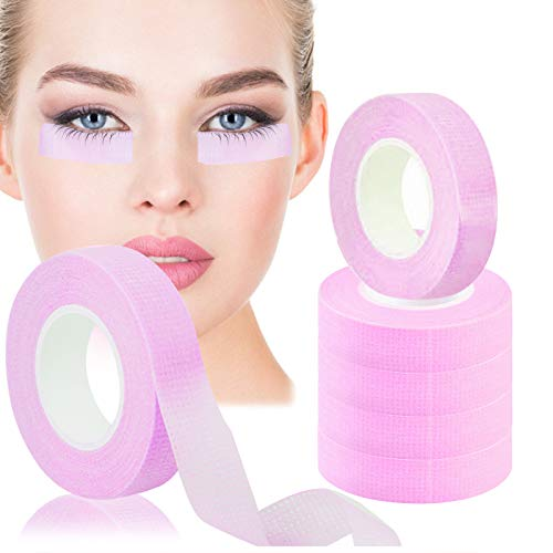 EBANKU 6 Rollen Tape Wimpernverlängerung Wimpern klebeband Micropore Wimpern Tape Lash Tape Extension Wimpern Isolations Klebeband (0,5 Zoll x 10 Yards, Purpurrot)