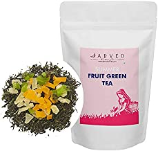 Jarved Organic Summer Fruit Green Tea: Green Tea with 100% Natural Product (100g, Makes 50 Cups): Farm to Cup
