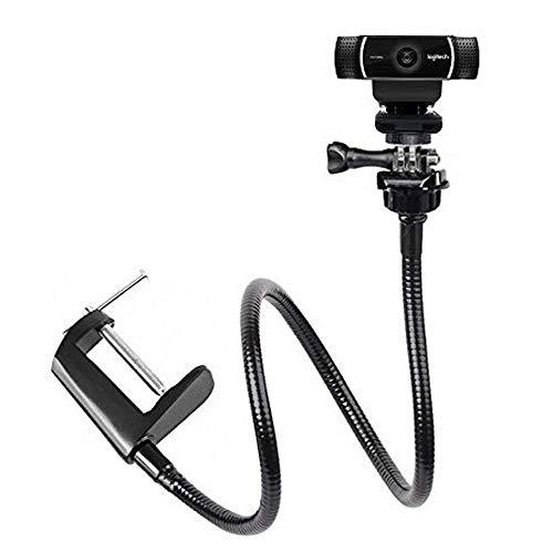 Support de support de bureau à col de cygne réglable Tencro Support de fixation de caméra pour Webcam Logitech Brio 4K, C925e, C922x, C922, C930e, C930, C920 et plus (1/4 'fileté)
