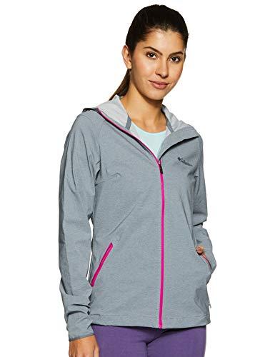 Columbia Softshell Kapuzenjacke für Damen, Heather Canyon Softshell Jacket, Polyester, grau (Grey Ash Heather), Gr. S, WL1173