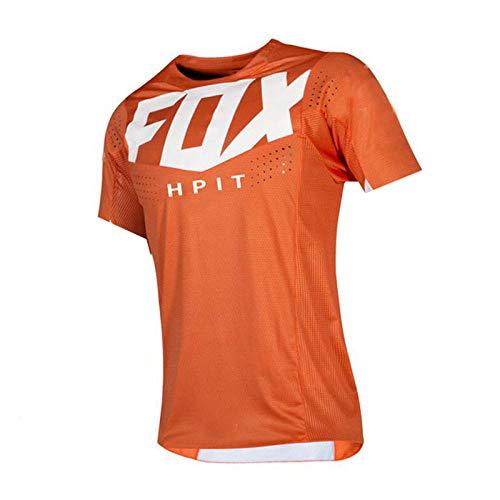PYMNDZ Bike Jerseys Motocross BMX Racing t-Shirt Downhill Short Sleeve Cycling Clothes MX Summer hpit Fox MTB Jersey Locomotive-XXXL