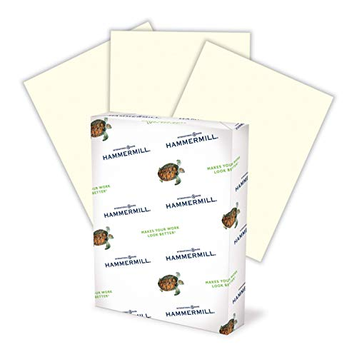 Hammermill Colored Paper, 24 lb Cream Printer Paper, 8.5 x 11-1 Ream (500 Sheets) - Made in the USA, Pastel Paper, 168060R
