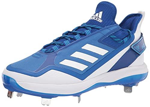 adidas Men's Icon 7 Boost Baseball Shoe, White/Team Royal Blue/Solar Blue, 7.5
