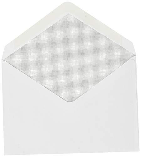 Confezione da 500 buste bianche C6 114 x 162 80 g/m2 gommate