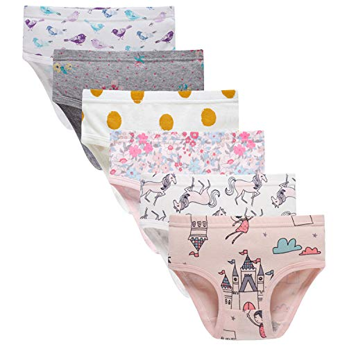 Sladatona Little Girls' Soft Cotton Underwear Bring Cool, Breathable Comfort Experience Panty 2-3t