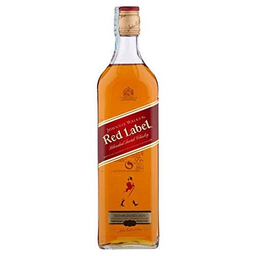 6 Flaschen Johnnie Walker Red Label Blended Scotch Whisky a 700ml Großpackung