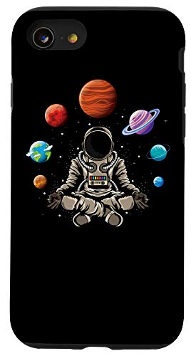 iPhone SE (2020) / 7 / 8 Astronaut doing yoga in the universe space galaxy yoga Case
