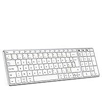 【1 CLAVIER POUR 3 APPAREILS】- Cette clavier sans fil vous permet de connecter 3 appareils en même temps via le mode sans fil 2,4G, le mode Bluetooth (2 appareils Bluetooth) .Vous pouvez facilement changer l'appareil en appuyant sur le bouton de l'int...