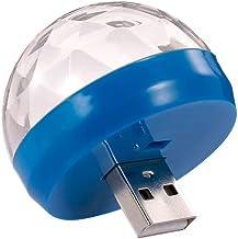 Nishore LED rgb mini luz dj ktv disco luz de controle de som bola mágica lâmpada 4 w para carro/home e festival