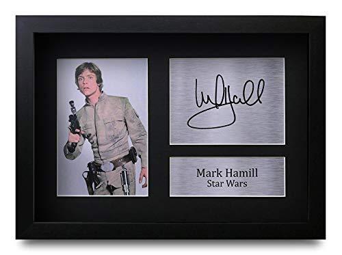 HWC Trading Mark Hamill A4 Gerahmte Signiert Gedruckt Autogramme Bild Druck-Fotoanzeige Geschenk Für Star Wars Filmfans