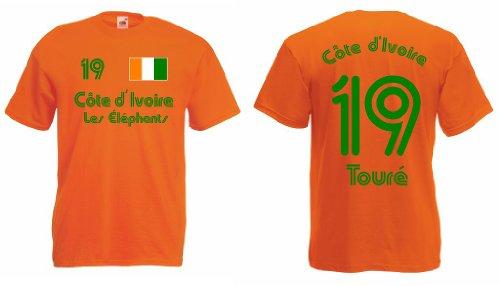 Elfenbeinküste Les Elephants T-Shirt Nr.19 Toure Trikot|xxl
