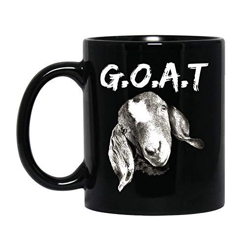 Novelty Goat Lover Coffee Mug Cup | Funny G.O.A.T Ceramic Mug | Farm Mug Present For Birthday, Christmas | Gifts For Farmers, Goat Lovers, Animal Lovers | Customize 11 Oz 15 Oz Black Tea Cup