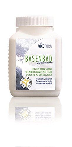 VICOPURA Basenbad Premium, mineralisches Basensalz, basisches Badesalz, 600 g