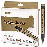 Metallic Marker Stifte Set, 10 Farben Metallische Color