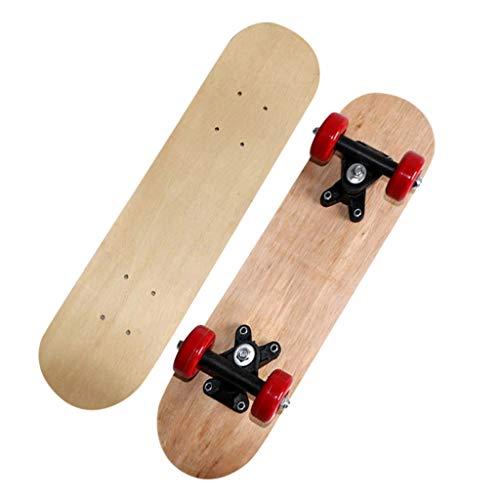Litale Skateboard für Kinder Teenager Erwachsene - Tricks Skateboard Holz Skateboard für Anfänger Kinder, DIY Freihand Skateboard für Anfänger Graffiti für Jungen Mädchen Kinder. (Blau rot)