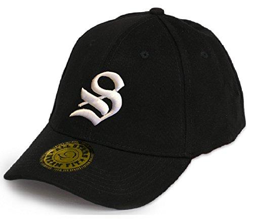 Baseball Snap Back Bonnet Cap Chapeau Casquette Snapback 3D Gothique A-Z Hip-Hop (S)