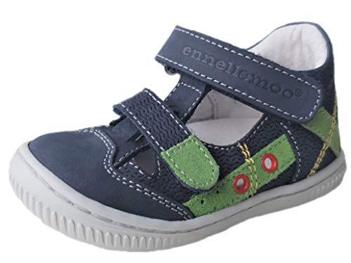 Ennellemoo® jongens-babysandalen voor kinderen, met teenbescherming en klittenbandsluiting. Echt leren schoenen.