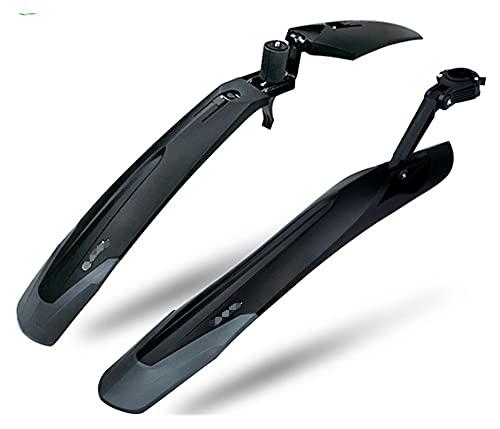 YANGSTOR Ajuste para la Bicicleta Mudguard Set MTB Fender E-Bike 27 27.5 29 Bicicleta de montaña TPE Amplia alarga Lanzamiento rápido Diseño de Patentes RL-910 (Color : RL 910 FR One Set)