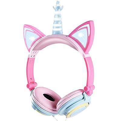 Amazon - Save 70%: Kids Headphones, Cute Unicorn Cat Ear Headphones Foldable and…