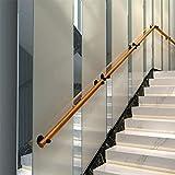 WMMING バー ロフト 階段 1フィート 20フィートのための適切な近代的なラウンドウッド階段の手すり 滑り止めウォール安全手すり 屋内屋外の廊下屋根裏サポートロッド 滑り止め (Size : 18FT/540CM)