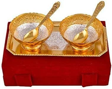 By Jaipur Ace Free shipping anywhere in the nation Metal Gold 5-Pieces online shop Snack Bowls