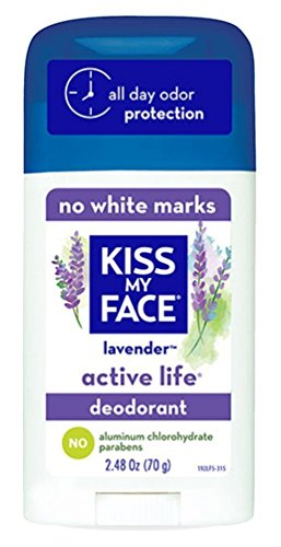 Kiss My Face Deodorant Stick Active Lavender 2.48 Ounce (73ml) (2 Pack)