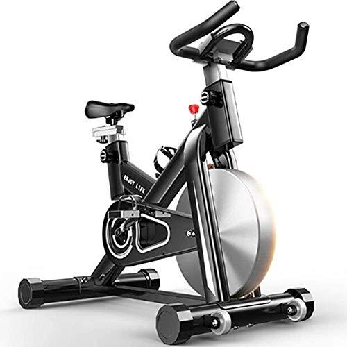 Zhihao Indoor Heimtrainer, Spin Bike Studio Cycles Studiogeräte Cardio Workout Magnetic Heimtrainer, Einstellbarer Lenker Sitz LED Länge Dauer Kalorien Maximale Belastbarkeit 150kg