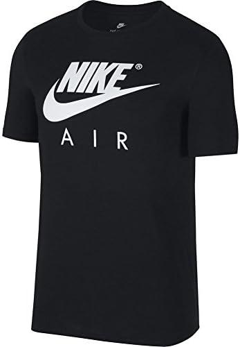 Nike Air Camiseta Manga Corta Hombre Sportswear Negra