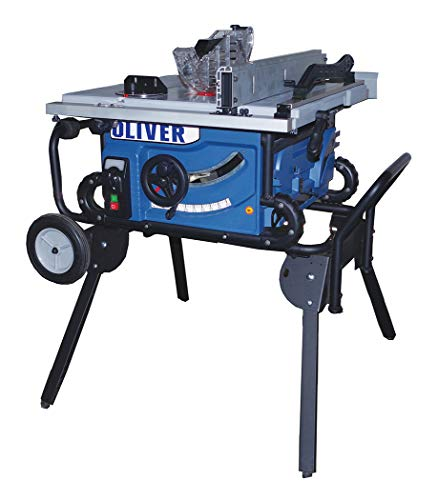 Oliver 10in JobSite Table Saw with Roller Stand