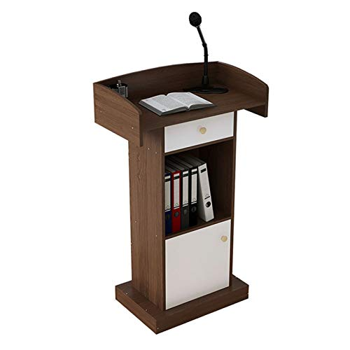 Mobili Commerciali Stand-up Pavimento Portatile Leggio del podio Podium Teacher Speaker Lecture Aula Presentation Stand Leggio Stand-up (Color : Coffee, Size : 42x60x124cm)