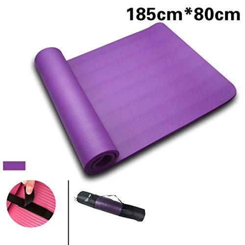 Yoga mat, 185cmX120cmX8mm allungamento tappetino fitness, tappetino fitness tappetino da yoga, tappetino antiscivolo spessore ( colore : S. , dimensioni : S. )