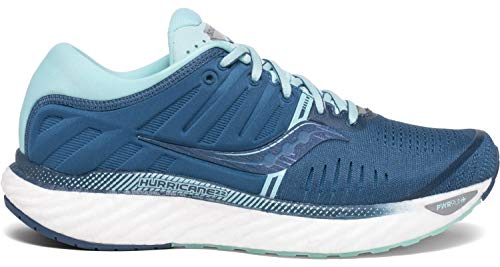 Saucony Women's S10545-25 Hurricane 22 Running Shoe, Blue | Aqua - 8.5 W US