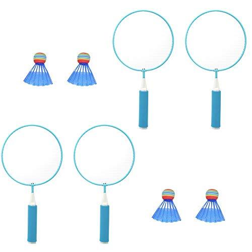 T best Badmintonschläger für Kinder, 2 Satz/Satz Badmintonschläger für Kinder Outdoor Sports Leisure Toys Eltern-Kind-Spielzeug