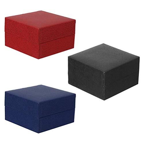 Hemobllo 3 cajas para relojes de una sola ranura, caja expositora para...