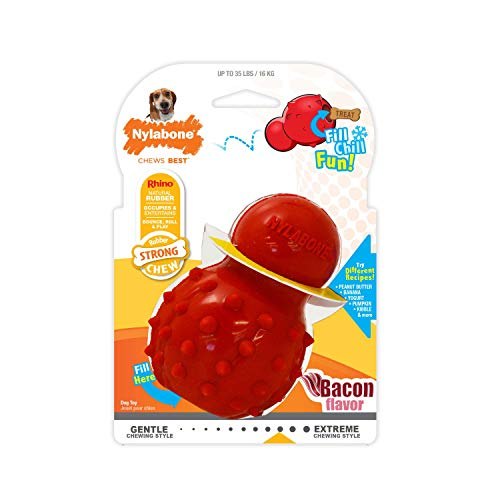 Nylabone Stuffable Chew Toy for Dogs, Medium Birthday Chew Dog favorites Pet Profile Promotion Savings Stocking Stuffers: Supplies Top Toys Treats Zima's