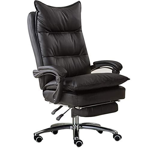 Dfgdf Silla de Escritorio con reposabrazos articulado Sillón reclinable ergonómico de Altura Ajustable Reposapiés Acolchado