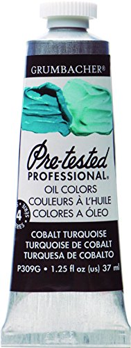 Grumbacher Pre-Tested Oil Paint, 37ml/1.25 Ounce, Cobalt Turquoise (P309G)