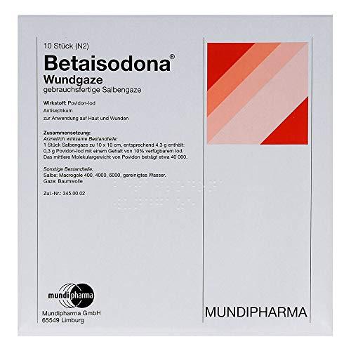 BETAISODONA Wundgaze 10x10 cm 10 St
