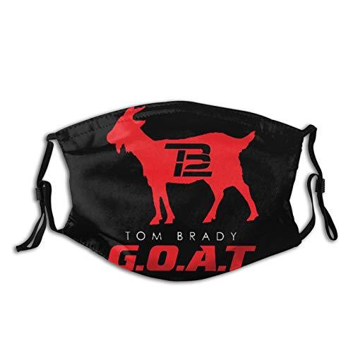 TB12 The Goat FaceMaskwith2PcsFilters,GoatMaskReusableWashableBalaclavasforWomenManYouth Black