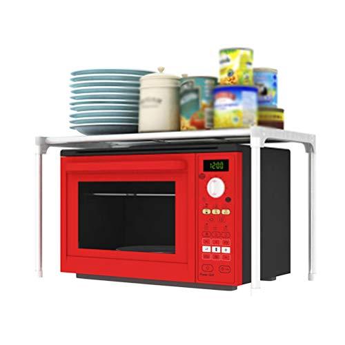 Kitchen furniture - Support de rangement de cuisine de support de four de micro-ondes de plateau en plastique de pp de fer + WXP (taille : 57X30X30CM)