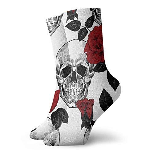 QUEMIN Seestern und Muscheln am Sommerstrand Unisex Komfortable Crew Socken Casual Socke für Sport Wandern Laufen 30 cm